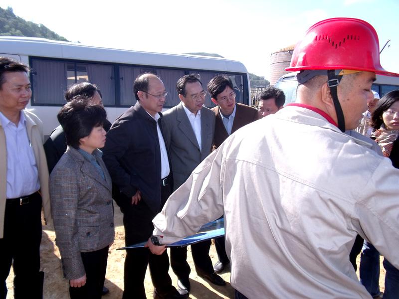 省委常委副省长陈桦莅临古雷现场视察指导