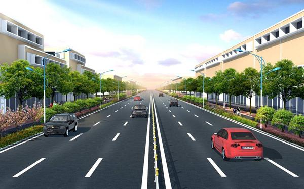 泉惠石化基地东西主干道道路工程